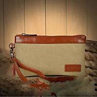 baratos Clutches & Bolsas de Noite-Mulheres Bolsas Tela de pintura Bolsa de Mão Ziper Fúcsia / Café / Khaki