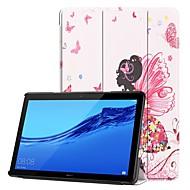 billiga Mobil cases & Skärmskydd-fodral Till Huawei Huawei Mediapad T5 10 / MediaPad T3 10(AGS-W09, AGS-L09, AGS-L03) med stativ / Lucka / Mönster Fodral Sexig kvinna Hårt PU läder för Huawei Mediapad T5 10 / Huawei MediaPad T3