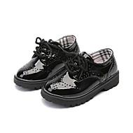 baratos Sapatos de Menino-Para Meninos / Para Meninas Sapatos Couro Ecológico Outono Conforto Oxfords Cadarço para Infantil Preto / Branco / Preto