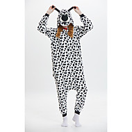 Adulte Pyjamas Kigurumi Animé Chien Combinaison de Pyjamas fibre de polyester Noir blanc Cosplay Pour Homme et Femme Pyjamas Animale Dessin animé Fête / Célébration Les costumes