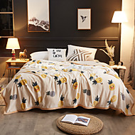 billiga Filtar och plädar-Super Soft, Pigmenttryck Blomma Polyester filtar