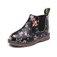 baratos Sapatos de Menina-Para Meninas Sapatos Couro Sintético Primavera & Outono Coturnos Botas Elástico para Infantil / Adolescente Preto / Cinzento / Botas Curtas / Ankle