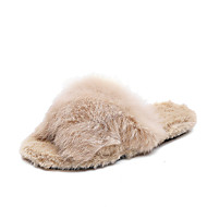 baratos Sapatos de Menino-Para Meninos / Para Meninas Sapatos Pêlo Sintético Outono Conforto Chinelos e flip-flops para Infantil Preto / Bege