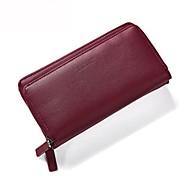baratos Clutches & Bolsas de Noite-Mulheres Bolsas PU Bolsa de Mão Côr Sólida Cinzento / Roxo / Vinho