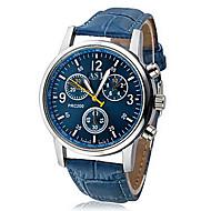 preiswerte Kleideruhr-Herrn Armbanduhr Quartz Schwarz / Weiß / Blau Armbanduhren für den Alltag Analog Freizeit - Weiß Schwarz Blau Ein Jahr Batterielebensdauer