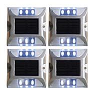 billiga Belysning-4pcs 2 W Lawn Lights / Led Street Light / Solar Wall Light Sol / Dekorativ / Ljusstyrning Vit / Röd / Blå 1.2 V Utomhusbelysning / Gård / Trädgård 6 LED-pärlor