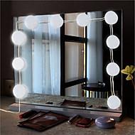 billiga Belysning-BRELONG® 1set LED Night Light Vit AC-driven Vattentät / Dekorativ / EU 85-265 V