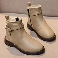 baratos Sapatos de Menina-Para Meninas Sapatos Sintéticos Outono & inverno Curta / Ankle Botas Ziper para Infantil / Adolescente Preto / Marron / Khaki / Botas Curtas / Ankle