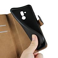 billiga Mobil cases & Skärmskydd-fodral Till Huawei Y6 (2018) / Huawei Nova 3i Plånbok / Korthållare / med stativ Fodral Enfärgad Hårt Äkta Läder för Huawei Nova 3i / Mate 10 / Mate 10 lite