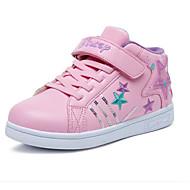 baratos Sapatos de Menina-Para Meninas Sapatos Couro Sintético Inverno Conforto Tênis Velcro para Infantil Preto / Fúcsia / Rosa claro