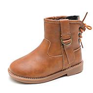 baratos Sapatos de Menino-Para Meninos / Para Meninas Sapatos Couro Sintético Outono Coturnos Botas Cadarço para Infantil Verde / Khaki / Vinho / Botas Cano Médio