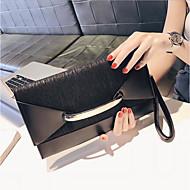 baratos Clutches & Bolsas de Noite-Mulheres Bolsas PU Bolsa de Mão Ziper Preto / Rosa / Cinzento Escuro