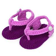 baratos Sapatos de Menino-Para Meninos / Para Meninas Sapatos Camurça Primavera Conforto Sandálias para Bébé Roxo / Verde / Azul