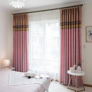 billige Gardiner ogdraperinger-gardiner gardiner To paneler Egendefinert Størrelse Oransje / Mønstret / Soverom