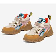 baratos Sapatos de Menina-Para Meninos / Para Meninas Sapatos Pele Primavera & Outono Conforto Tênis Velcro para Infantil Dourado / Preto / Estampa Colorida