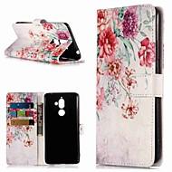 billiga Mobil cases & Skärmskydd-fodral Till Nokia Nokia 7 Plus / Nokia 6 2018 Plånbok / Korthållare / med stativ Fodral Blomma Hårt PU läder för Nokia 7 Plus / Nokia 6 2018 / Nokia 1