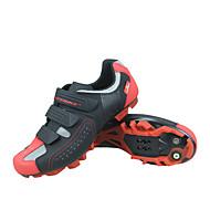 SIDEBIKE ผู้ใหญ่ รองเท้าขี่จักรยาน ระบายอากาศ, ป้องกันการลื่นล้ม, ป้องกันฉลาม ปั่นจักรยาน / จักรยาน / จักรยานปีนเขา สีดำ / สีแดง สำหรับผู้ชาย