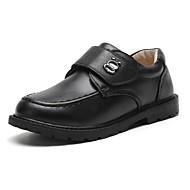 baratos Sapatos de Menino-Para Meninos Sapatos Pele Outono & inverno Conforto Rasos Velcro para Infantil / Adolescente Preto