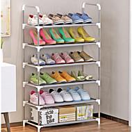 billige Skostativer & Bøjler-Skohylder og skobøjler Ikke-strikket Stof 6 niveauer Unisex Hvid / Sølv