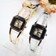 billige Quartz-Dame Kjoleur Armbåndsur Quartz Afslappet Ur Imiteret Diamant Legering Bånd Analog Elegant Minimalistisk Sort - Sort
