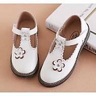 baratos Sapatos de Menina-Para Meninas Sapatos Pele Primavera & Outono Sapatos para Daminhas de Honra / Solados com Luzes Tênis Flor / Velcro para Infantil Branco / Preto / Rosa claro