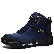 baratos Sapatos Masculinos-Homens Coturnos Couro Outono & inverno Casual Botas Manter Quente Botas Curtas / Ankle Azul Escuro / Azul Marinho / Preto / Amarelo