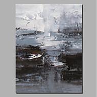 billiga Abstrakta målningar-Hang målad oljemålning HANDMÅLAD - Abstrakt / Landskap Samtida / Moderna Inkludera innerram / Valsad duk / Sträckt kanfas