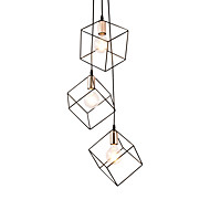 billige Takbelysning og vifter-vintage svart metall bur loft mini anheng lys moderne stue spisestue hallway lysarmatur