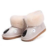baratos Sapatos de Menino-Para Meninos / Para Meninas Sapatos Camurça / Couro Ecológico Inverno Botas de Neve Botas Velcro para Bébé Azul / Rosa claro / Khaki / Botas Curtas / Ankle