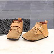 baratos Sapatos de Menina-Para Meninas Sapatos Pele Primavera / Outono Coturnos Botas para Bébé Preto / Marron / Khaki / Botas Curtas / Ankle