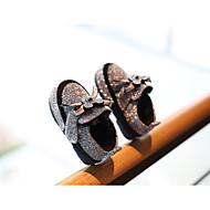 baratos Sapatos de Menina-Para Meninas Sapatos Sintéticos Inverno Conforto / Primeiros Passos Mocassins e Slip-Ons para Bébé Dourado / Preto / Prata