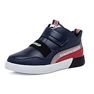 baratos Sapatos de Menino-Para Meninos Sapatos Sintéticos Inverno Conforto Tênis Velcro para Infantil Preto / Azul Escuro / Estampa Colorida