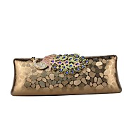 baratos Clutches & Bolsas de Noite-Mulheres Bolsas PU Bolsa de Festa Detalhes em Cristal Animal Prata / Vermelho / Café