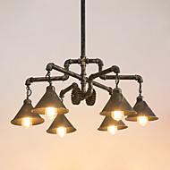 billige Takbelysning og vifter-6-Light Industriell Lysekroner Nedlys Antikk Messing Malte Finishes Metall Kreativ, Rør 110-120V / 220-240V