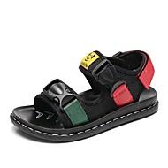 baratos Sapatos de Menino-Para Meninos / Para Meninas Sapatos Lona / Microfibra Primavera Conforto Sandálias para Bébé Preto / Vermelho