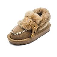 baratos Sapatos de Menina-Para Meninas Sapatos Camurça Inverno Conforto / Sapatos para Daminhas de Honra Mocassins e Slip-Ons para Infantil / Adolescente Preto / Rosa claro / Camel