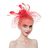 Τούλι / Φτερά Kentucky Derby Hat / Γοητευτικά / Μαντήλι με Φτερό 1 Τεμάχιο Πάρτι / Βράδυ / Δουλειά / Τελετή / Γάμος Headpiece