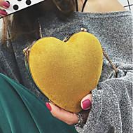 baratos Bolsas de Ombro-Mulheres Bolsas PU Bolsa de Ombro Côr Sólida Vermelho / Amarelo / Marron