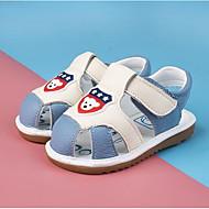 baratos Sapatos de Menino-Para Meninos / Para Meninas Sapatos Couro Primavera Conforto Sandálias para Bébé Vermelho / Azul / Rosa claro