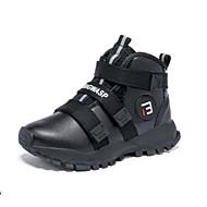 baratos Sapatos de Menino-Para Meninos Sapatos Couro Inverno Botas da Moda Botas Velcro para Infantil Preto / Preto / Vermelho / Black / azul / Botas Curtas / Ankle / Estampa Colorida