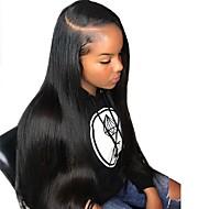 Remy kosa Netretirana  ljudske kose 360 Frontalni Lace Front Perika Duboko udaljavanje stil Brazilska kosa Ravan kroj Prirodno ravno Perika 150% 180% Gustoća kose s dječjom kosom Prirodna linija za