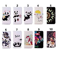 Case For Samsung Galaxy J6 / J4 Wallet / Card Holder / with Stand Full Body Cases Elephant / Panda Hard PU Leather for J7 (2017) / J6 (2018) / J6 Plus