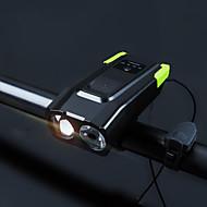 billige Sykkellykter og reflekser-Frontlys til sykkel / sikkerhet lys Dual LED Sykkellykter 5mm Lampe / LED Sykling Vanntett, Bærbar, Fort Frigjøring Li-polymer 4000 lm Innebygd Li-batteridrevet Naturlig hvit / Naturlig Hvit Camping