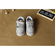 baratos Sapatos de Menino-Para Meninos / Para Meninas Sapatos Couro Primavera Conforto Tênis para Bébé Cinzento / Roxo / Azul