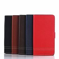 billiga Mobil cases & Skärmskydd-fodral Till Sony Xperia XZ1 Compact / Xperia XA1 Ultra Plånbok / Korthållare / med stativ Fodral Enfärgad Hårt PU läder för Xperia XZ1 Compact / Sony Xperia XZ1 / Sony Xperia XA1 Ultra