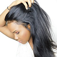 Remy Τρίχα 360 μετωπικής Βαθύ μπροστινό μέρος δαντέλας Δαντέλα Μπροστά Περούκα Βαθιά διαίρεση Kardashian στυλ Βραζιλιάνικη Μεταξένια Ίσια Περούκα 150% Πυκνότητα μαλλιών 10-22 inch / Προ-απογυμνωμένο