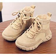 baratos Sapatos de Menino-Para Meninos / Para Meninas Sapatos Couro Inverno Coturnos Botas Cadarço para Infantil Castanho Claro / Khaki / Botas Cano Médio