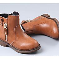 baratos Sapatos de Menina-Para Meninas Sapatos Pele Primavera Verão / Outono & inverno Botas da Moda Botas Ziper para Infantil Preto / Amarelo / Vermelho