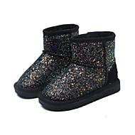 baratos Sapatos de Menina-Para Meninas Sapatos Couro Envernizado Inverno Botas de Neve Botas Lantejoulas para Infantil / Bébé Preto / Arco-íris / Rosa claro