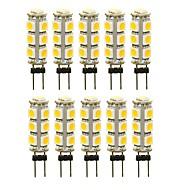 billige Bi-pin lamper med LED-SENCART 10pcs 3 W 180 lm G4 LED-lamper med G-sokkel T 13 LED perler SMD 5050 Dekorativ Varm hvit / Hvit / Rød 12 V